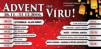 "Raskošan program spektakla ""Advent na Viru"""